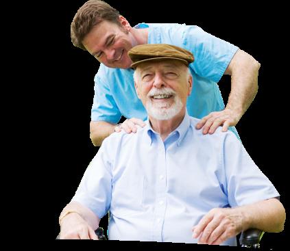 caregiver giving his patient a massage